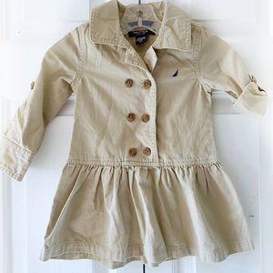Nautica Toddler Girls Khaki Long Sleeve Dress 2T